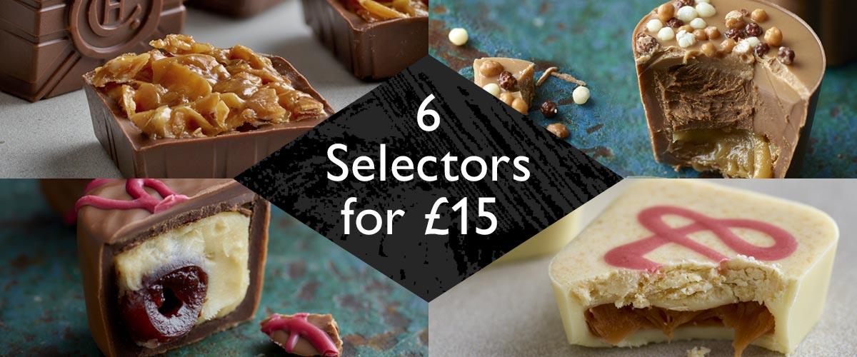 6 Selectors for £15