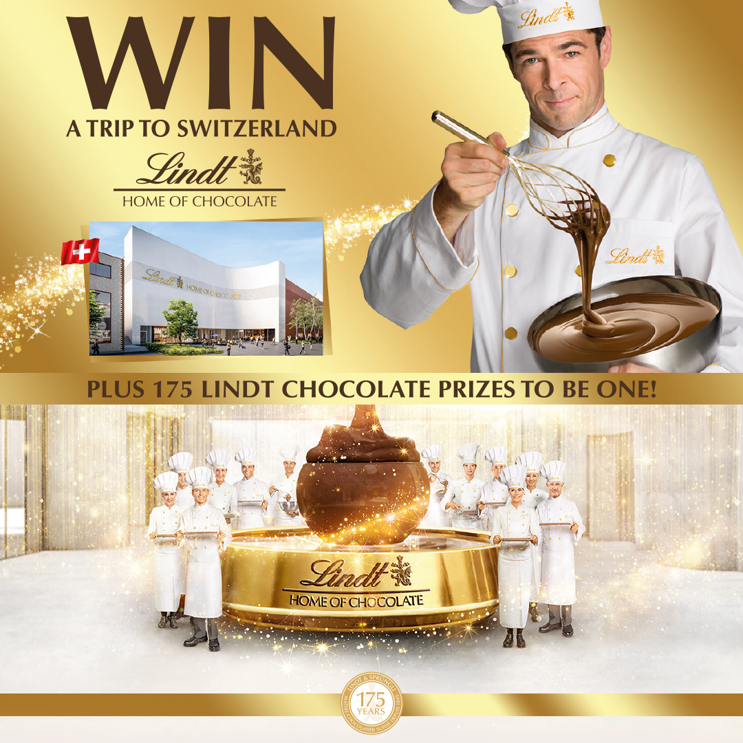 Win a trip to Switzerland with Lindt!